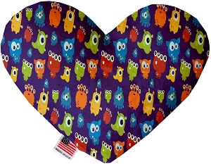 Party Monsters 6 inch Stuffing Free Heart Dog Toy